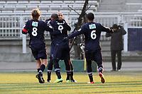 FOOTBALL - FRENCH CUP 2011/2012 - 1/8 FINAL - OLYMPIQUE LYONNAIS v GIRONDINS BORDEAUX - 8/02/2012 - PHOTO EDDY LEMAISTRE / DPPI -  JOY OF JUSSIE AFTER HIS GOAL  (BORDEAUX)