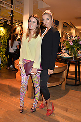 Left to right, KELLY EASTWOOD and AMBER LE BON at a party to celebrate the launch of Matthew Williamson: Fashion, Print and Colouring Book held at Anthropologie, 158 Regent Street, London on 8th September 2016.