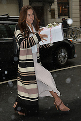 February 20, 2019 New York City<br /> <br /> Guests arrive to Meghan Markle's baby shower on February 20, 2019 in New York City.