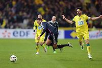 Rachid GHEZZAL / Olivier VEIGNEAU  - 20.01.2015 - Nantes / Lyon  - Coupe de France 2014/2015<br />Photo : Vincent Michel / Icon Sport