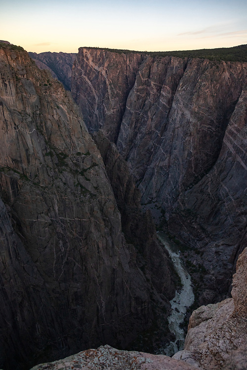 Black Canyon of the Gunnison National Park North Rim Chasm View