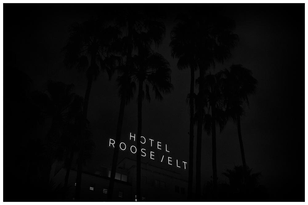 LA Noir: Hollywood Boulevard at Night - Roosevelt Hotel