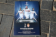 the Official match day programme. UEFA Champions league match, group E, Tottenham Hotspur v AS Monaco at Wembley Stadium in London on Wednesday 14th September 2016.<br /> pic by John Patrick Fletcher, Andrew Orchard sports photography.