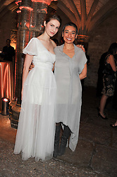 Left to right, TALI LENNOX and ZAINAB SALBI at the Women for Women International UK Gala held at the Guildhall, City of London on 3rd May 2012.