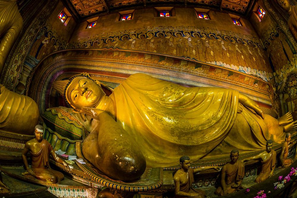 Recliining Buddha, Wewurukannala Vihara (Buddhist temple), Dikwela, Southern Province, Sri Lanka.