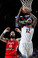United States´s Cousins (R) and Serbia´s Raduljica during FIBA Basketball World Cup Spain 2014 final match between United States and Serbia at `Palacio de los deportes´ stadium in Madrid, Spain. September 14, 2014. (ALTERPHOTOSVictor Blanco)