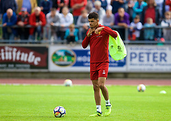 ROTTACH-EGERN, GERMANY - Friday, July 28, 2017: Liverpool's Dominic Solanke during a training session at FC Rottach-Egern on day three of the preseason training camp in Germany. (Pic by David Rawcliffe/Propaganda)