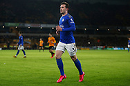 Leicester City defender Ben Chilwell in action during the Premier League match between Wolverhampton Wanderers and Leicester City at Molineux, Wolverhampton, England on 14 February 2020.