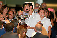 ACF Fiorentina's Nenad Tomovic after Santiago Bernabeu Trophy. August 23,2017. (ALTERPHOTOS/Acero)