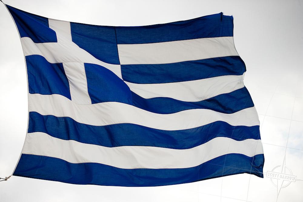 Greek Flag, Athens, Greece