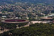 Belo Horizonte_MG, Brasil...Imagem aerea do Mineirao (Governador Magalhaes Pinto) na Pampulha...Aerial view of Mineirao (Governador Magalhaes Pinto) in Pampulha...Foto: BRUNO MAGALHAES / NITRO