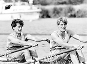 Henley on Thames, England, 1989 Henley Royal Regatta, River Thames, Henley Reach,  [© Peter Spurrier/Intersport Images], The Queen Mother Challenge Cup, Bow Richard STANHOPE, Rory HENDERSON,