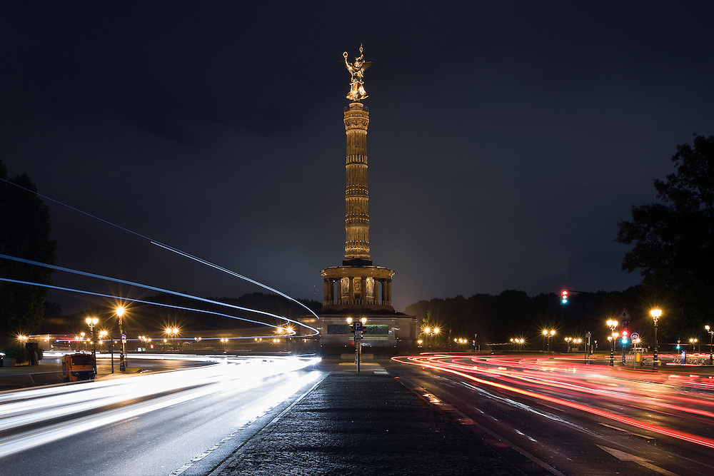 Victory Column at night, Berlin, Germany