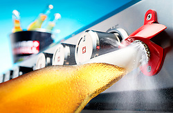Series of images commissioned by Swiss Grill. Beer bottle opening with enticing hiss...
