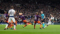 Football - 2018 / 2019 UEFA Champions League - Quarter Final , First Leg: Tottenham Hotspur vs. Manchester City<br /> <br /> Harry Winks (Tottenham FC)  shapes his shot as he tries from 18 yards at White Hart Lane Stadium.<br /> <br /> COLORSPORT/DANIEL BEARHAM