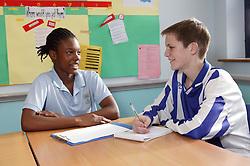 School children working in the classroom,