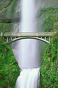 Multnomah Falls and bridge, Columbia River Gorge National Scenic Area, Oregon