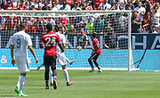 Manchester United Midfielder Jesse Lingard scores the first goal 0-1 during the AON Tour 2017 match between Real Madrid and Manchester United at the Levi's Stadium, Santa Clara, USA on 23 July 2017.