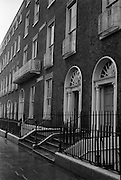 Georgian Houses at Fitzwilliam Street, Dublin..1961..20.11.1961..11.20.1961..20th November 1961..image shows Georgian Houses at Fitzwilliam Street, Dublin, then the longest stretch of Georgian domestic architecture in the world.  Part of the street was later demolished to make way for the new Electricity Supply Board Headquarters..