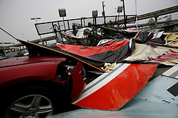 Stock photo of wreckage and debris in the aftermath of Hurricane Ike