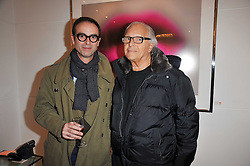 Left to right, ALISTAIR TAYLOR-YOUNG and DAVID MONTGOMERY at a party to launch Alistair Taylor-Young's new book 'The Phone Book' held at The Little Black Gallery, 13A Park Walk, London SW10 on 18th January 2011.