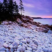 Boulder Beach along Ocan Drive. Acadia National Park. Mount Desert Island. Maine