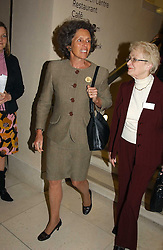 Left, LADY OWEN at a the Orion Publishing Group Author Party and a private view of the 'Turner Whistler Monet' exhibition at Tate Britain, Atterbury Street, London SW1 on 23rd February 2005.<br /><br />NON EXCLUSIVE - WORLD RIGHTS