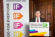 Douglas Alexander MP supporting the Enough Food for Everyone?IF campaign. .MP's and Peers attended the parliamentary launch of the IF campaign in the State Rooms of Speakers House, Palace of Westminster. London, UK.