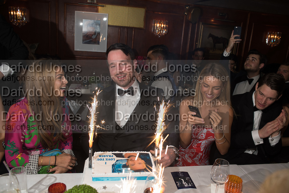 LILY FRIEDA; ,FRASER CARRUTHERS,,, Fraser Carruthers  and Harry Scofield birthday. Archie's club, 92b Old Brompton Rd. London. 11 February 2017