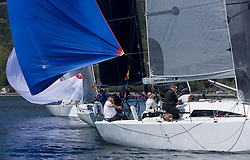 Lights winds dominated the Pelle P Kip Regatta  at Kip Marine weekend of 12/13th May 2018<br /> <br /> GBR7667R, Now or Never 3, Neil Sandford, Fairlie YC, Mat 1010<br /> Images: Marc Turner