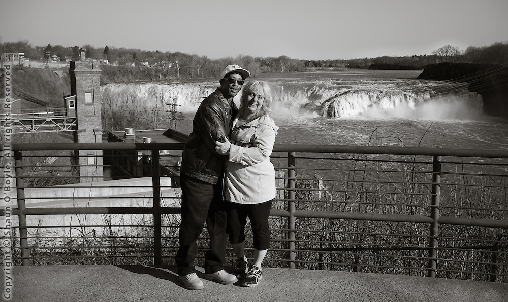 Couple at Cohoes Falls