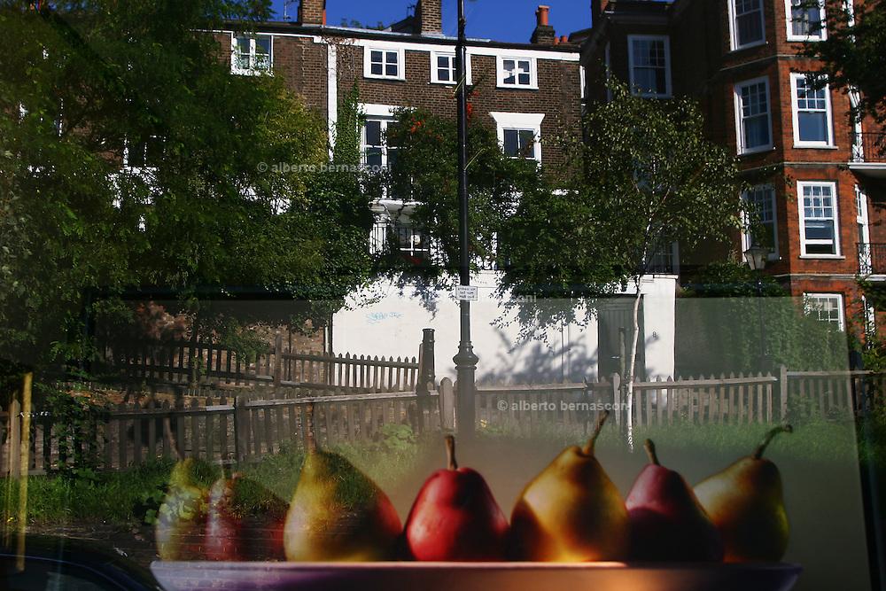 England, London: Art Gallery shop window in Hampstead Heath England, London: