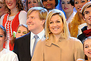 """Prince and Princess of Holland attend anniversary Hofplein Rotterdam.<br /> <br /> Their Royal Highnesses the Prince of Oranje and Princess Máxima of the Netherlands attended on Sunday December 12 th  the anniversary show 'The Birthday of King Louis the One """"in the theater of Hofplein Rotterdam. The show is held on the occasion of the celebration of the 25th anniversary.<br /> <br /> Hofplein Rotterdam is the collective name for a theater, Jeugdtheaterschool Hofplein"""