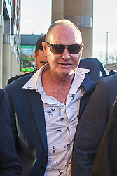 © Licensed to London News Pictures. 08/01/2019. Middlesbrough, UK. Former England footballer Paul Gascoigne leavingTeesside Crown Court this morning. The 51 year old is charged with sexually assaulting a woman by kissing on a train. Gascoigne was arrested while travelling from York to Newcastle on August 20th & was later charged with sexual assault by touching. Photo credit: Andrew McCaren/LNP