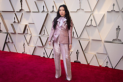 February 24, 2019 - Hollywood, California, U.S. - AWKWAFINA arrives on the red carpet of The 91st Oscars at the Dolby Theatre in Hollywood. (Credit Image: ? AMPAS/ZUMA Wire/ZUMAPRESS.com)
