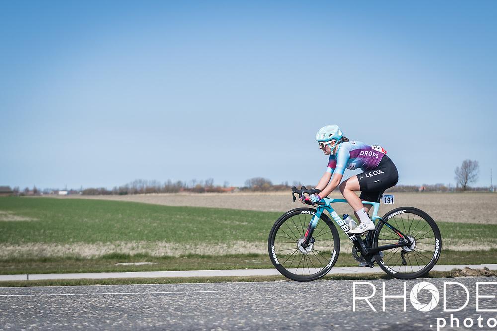 Elizabeth Bennett (GBR/Drops Le Col)<br /> <br /> Oxyclean Classic Brugge-De Panne 2021 (WE/1.WWT) - Belgium<br /> 1 day race from Brugge to De Panne (159km)<br /> <br /> ©RhodePhoto