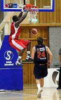 Basket<br /> 12. Oktober 2008<br /> BLNO<br /> Haukelandshallen<br /> Ulriken Eagles - 3B<br /> Peter Bullock , Ulriken<br /> Aleksander Høvik , 3B<br /> Foto: Astrid M. Nordhaug