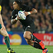 Ma'a Nonu, New Zealand, in action during the New Zealand V Australia Semi Final match at the IRB Rugby World Cup tournament, Eden Park, Auckland, New Zealand, 16th October 2011. Photo Tim Clayton...