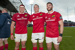 May 20, 2017 - Limerick, Irland - CJ Stander, Jean Deysel and Jaco Taute of Munster pictured after the Guinness PRO12 Semi-Final match between Munster Rugby and Ospreys at Thomond Park Stadium in Limerick, Ireland on May 20, 2017  (Credit Image: © Andrew Surma/NurPhoto via ZUMA Press)