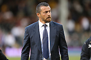 Slavisa Jokanovic, the Fulham manager looks on before k/o. Skybet EFL championship match, Fulham v Newcastle Utd at Craven Cottage in Fulham, London on Friday 5th August 2016.<br /> pic by John Patrick Fletcher, Andrew Orchard sports photography.