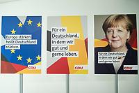 22 JUN 2017, BERLIN/GERMANY:<br /> Erste Plakate zur Bundestagswahl 2017, Konrad-Adenauer-Haus<br /> IMAGE: 20170622-01-005<br /> KEYWORDS: Wahlkampf