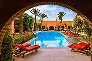 08-10-2015 -  Foto van Tikida Golf Palace bij Tikida Golf Palace in Agadir, Marokko. Tikida Golf Palace is een in Moorse stijl ingericht kleinschalig hotel met 54 kamers dat ligt aan de 18-holes Tikida Course van Golf du Soleil.