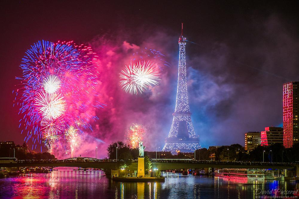 Eiffel tower firework finale of 2017 14th of July.