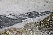 Passo del Forno, Un particolare dell'acqua che scende dal ghiacciaio.