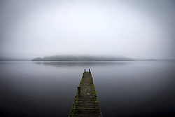 September 14, 2016 - Pooley Bridge, Cumbria, UK - Pooley Bridge UK. Picture shows a boat launch on the banks of Ullswater Lake in the morning mist near Pooley Bridge this morning. After last nights thunderstorms in the north of England Cumbria woke to a calm but misty morning. (Credit Image: © Andrew Mccaren/London News Pictures via ZUMA Wire)