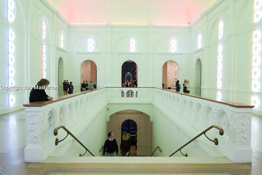 Interior of Stedelijk Museum of contemporary art in Amsterdam The Netherlands