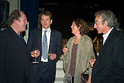 WILLIAM BOYD, JASON COWLEY, SIGRID RAUSING  AND ERIC ABRAHAM, party to celebrate the 100th issue of Granta magazine ( guest edited by William Boyd.) hosted by Sigrid Rausing and Eric Abraham. Twentieth Century Theatre. Westbourne Gro. London.W11  15 January 2008. -DO NOT ARCHIVE-© Copyright Photograph by Dafydd Jones. 248 Clapham Rd. London SW9 0PZ. Tel 0207 820 0771. www.dafjones.com.
