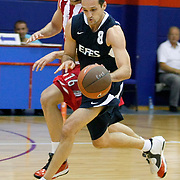 Efes Pilsen's Igor RAKOCEVIC (F) during their friendly basketball match Efes Pilsen between Olympiacos at Efes Pilsen Arena in Istanbul, Turkey, Sunday, October 03, 2010. Photo by TURKPIX