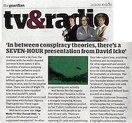 UFO Caught on CCTV Screen (modified image) / The Guardian / January 2009