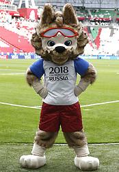 June 24, 2017 - O Lobo Zabivaka, mascote da Copa do Mundo da Rússia 2018, antes da partida entre México x Rússia válida pela terceira rodada da Copa das Confederações 2017, neste sábado (24), realizada no Estádio Arena Kazan, em Kazan, na Rússia. (Credit Image: © Rodolfo Buhrer/Fotoarena via ZUMA Press)